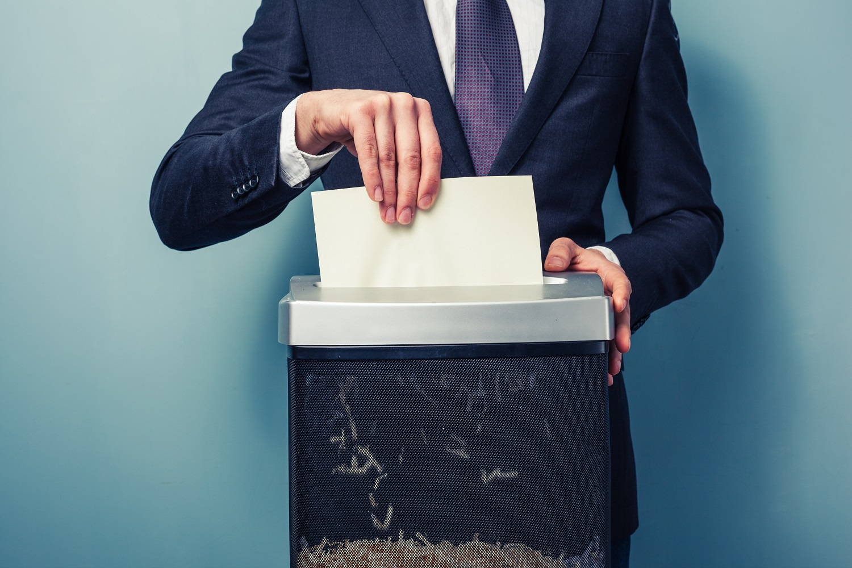 Proper Disposal of Sensitive Documents